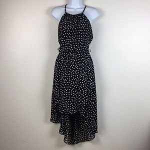 WHBM Halter Dress Womens Size 4 High Low Polka Dot